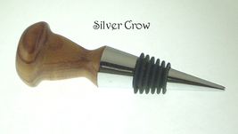 Wood Turned Wine Bottle Stopper  Metal Stopper Handcrafted Clearance - £10.06 GBP