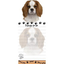 CAVALIER DOG DIECUT LIST PAD NOTES NOTEPAD Magnetic Magnet Refrigerator - $7.99
