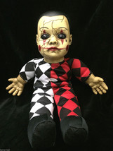 Harlequin Toy TALKING CREEPY HELLEQUIN CLOWN HAUNTED DOLL Horror Prop De... - $44.52