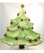 Willoughby Studio ceramic Christmas tree plate ... - $28.00
