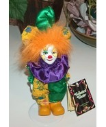 Porcelain Jester Clown with Orange Hair - $10.00