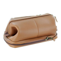 """Royce Toiletry Bag, Full Grain Harness Cowhide Leather, Tan"" - $116.59"