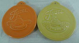 Fiesta Christmas Ornaments 2 75th Anniversary Fiestaware HLC Yellow Tangerine - $14.03
