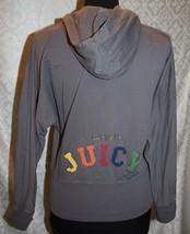 Juicy Couture Zip Front Hooded Jacket M Happy In Juicy Gray Grey - $28.16