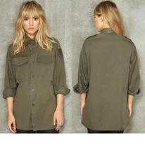 Austrian army fieldshirt shirt jacket olive khaki f2 military mens womens - $10.00+