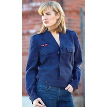 Vintage Unissued French Air Force ike jacket army uniform dress jacket navy - $20.00+