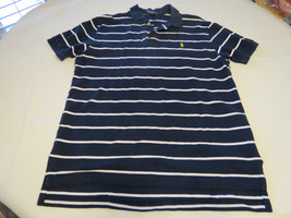 Polo by Ralph Lauren Men's short sleeve polo shirt navy blue L cotton EUC@ - $44.54