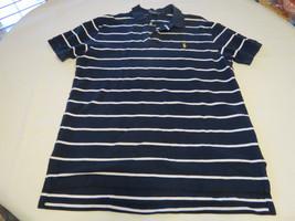 Polo by Ralph Lauren Men's short sleeve polo shirt navy blue L cotton EUC@ - $44.54