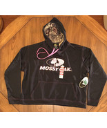 Mossy Oak Ladies Black with Break Up Country Pullover Hoodie Size XL NWT... - $21.28