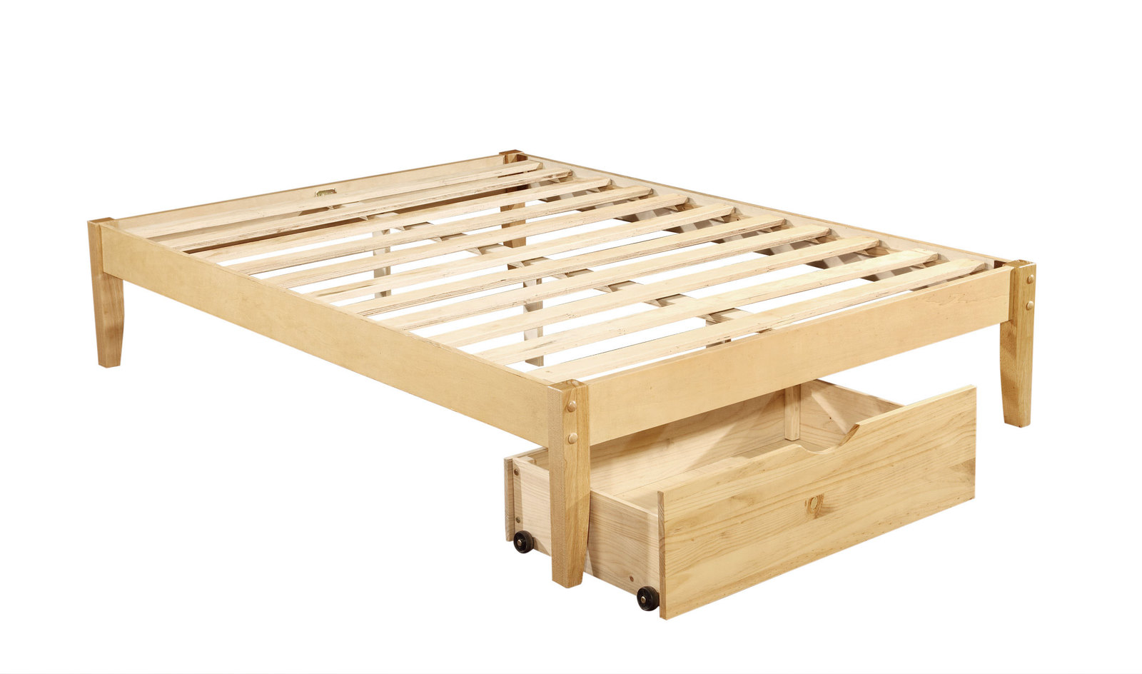 solid wood platform bed frame