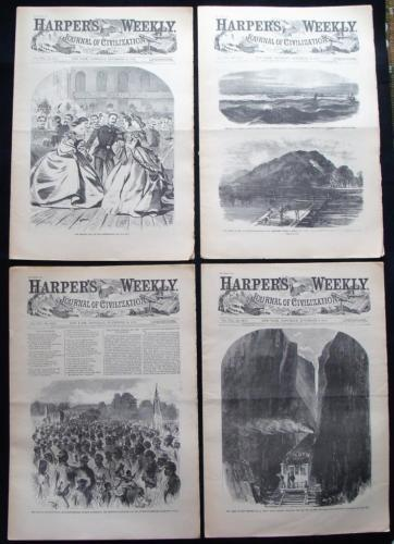 Harpers Weekly 4 ReIssued Historic Newspapers November 7 14 21 28 1863 Civil War