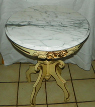 Mahogany Marble Top Lamp Table by Victorian  (RP) - $499.00