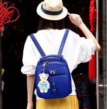 5 Color Leather Backpacks Medium Bookbags With Clutch Wallets N192-1 image 3