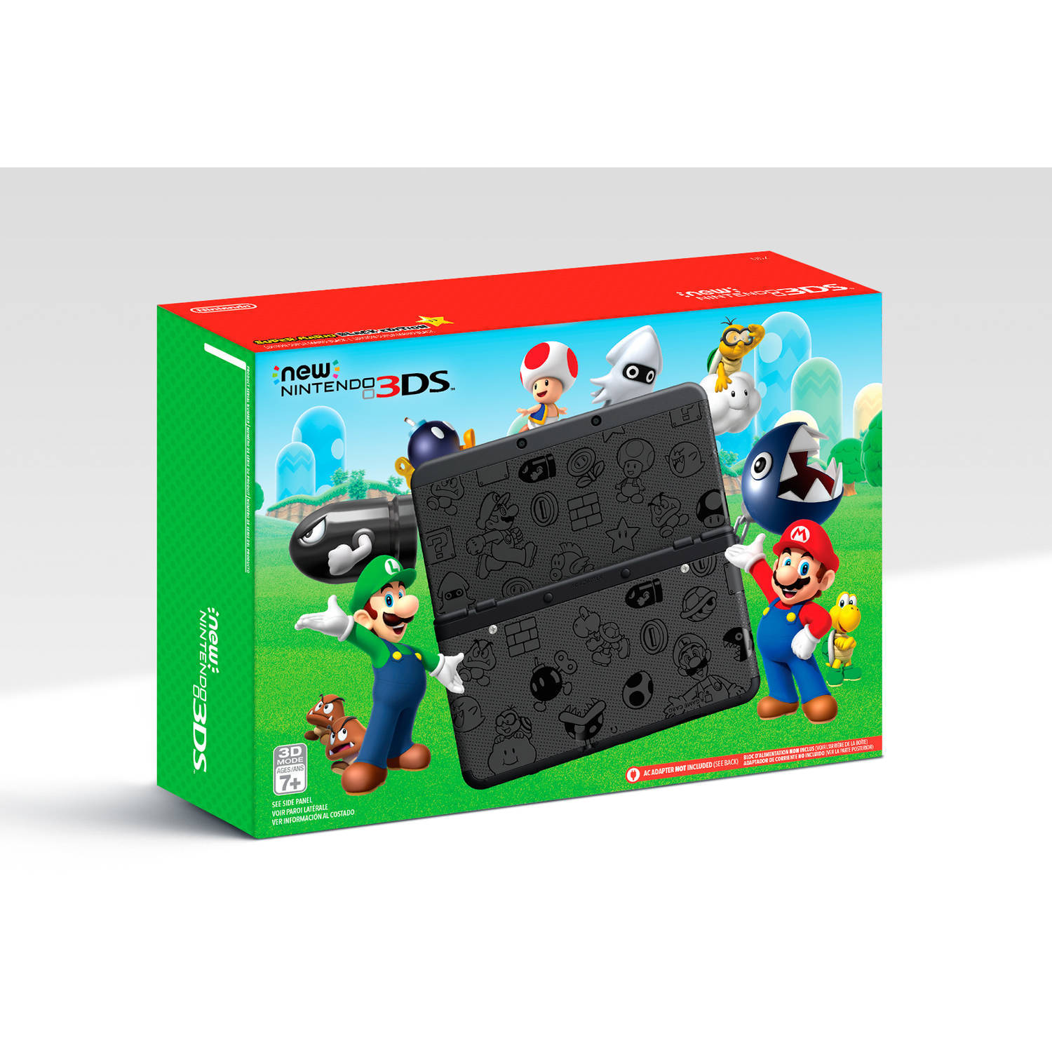 new nintendo 3ds super mario black edition and 13 similar items. Black Bedroom Furniture Sets. Home Design Ideas