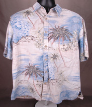 Cooke Street Hawaiian Short Sleeve Shirt-L-Palm Tree-Sea-Button Up-Honol... - $45.80