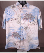 Cooke Street Hawaiian Short Sleeve Shirt-L-Palm Tree-Sea-Button Up-Honol... - $45.80