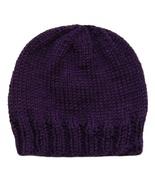 Closet Values Baby Girls 3-6 Mos. Purple Beanie Knit Hat - $7.99