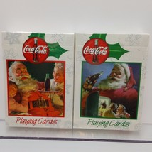 Coke Playing Cards Santa Christmas Children Coca Cola USA 1999 Reproduction - $11.25