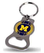 University of Michigan (U of M) Wolverines Keychain Bottle Opener - Maize M - €6,46 EUR