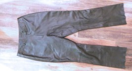 Women's Black Genuine Leather Pants Harold's Size 8 - $36.40