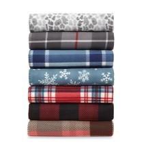 "Cannon Fleece Throw Luxurious Plaid Faux Fur Fleece Blanket 60"" L x 50"" W - $14.77"