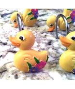 Ducky Resin Hooks for Bathroom Shower Curtain ,Bedroom,Living room - $9.99