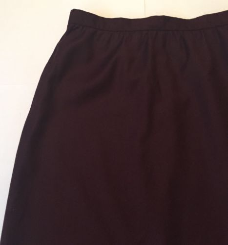 Vintage Deep Plum Skirt Size 16 Long Classy Gathered Waist Lined 6 8 10