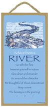"5"" x 10"" ADVICE FROM A RIVER WOOD PLAQUE Inspir... - $12.16"