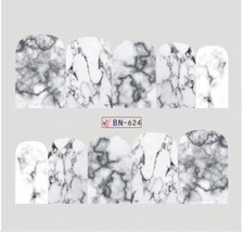 """HS Store - 1 Sheets Nail Art Marble Image Water """"BN624"""" Full Cover Decals - $2.51"""