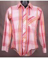 Vtg KAYNEE Western Shirt-Plaid-Size 18-Multi Color-Button Up-Cowboy Ranc... - $46.74