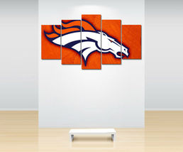 5 Pcs HD Printed Denver Broncos Football Sports Picture Canvas Wall Pain... - $47.99 - $179.99
