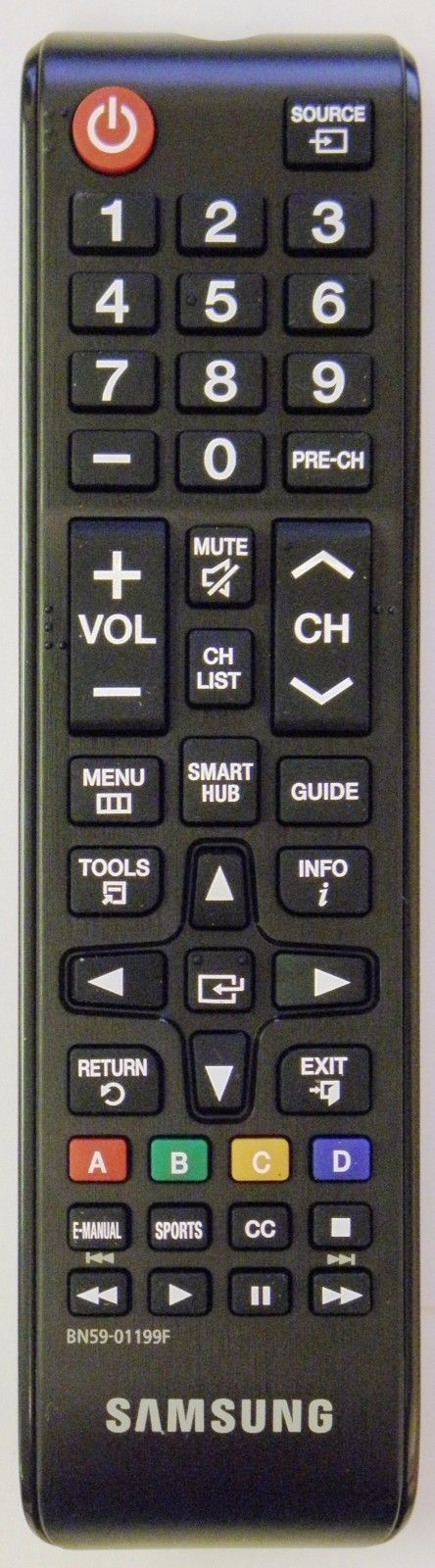 Genuine OEM Samsung Remote Control BN59-01199F  For UN40J5200 UN40J5200AF