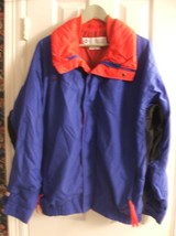 Columbia Bugaboo Blue / Red Ski Snowboarding Jacket Parka Size L Mens Coat Nylon - $24.74