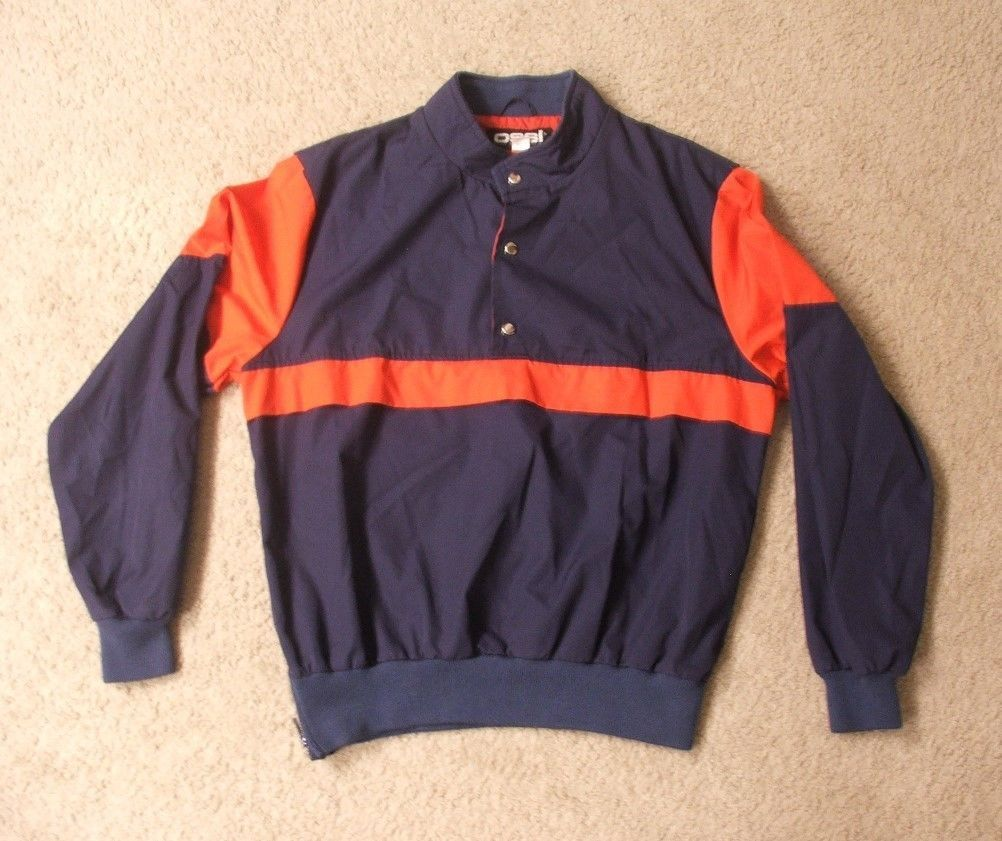 Ossi Blue & Red Light Weight Winter Ski Jacket Pullover Size XL Mens Coat