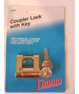 New Champ Coupler Lock with 2 Keys Boat Trailer Marine Metal Prevents Theft - $7.92