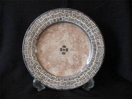 "2 Sakura Terrain 8"" Salad Plates by Sue Zipkin Stoneware 1997 Brown - $21.77"