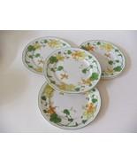 "Villeroy & Boch Geranium 4 Salad Dessert Plates 8 3/8"" Campagna Shape Ge... - $113.85"