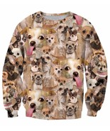 Ugly angry chihuahua mania cute dog pet full print sweatshirt thumbtall