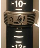 HuntForDeals Stainless Steel Spin Band Ring Scorpion Design - $5.75