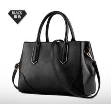 Simple Leather Shoulder Bags Women Leather Tote Bags Medium Messenger Ba... - $38.99