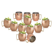 SET OF 12, Solid Copper Moscow Mule Vodka Beer ... - $105.99