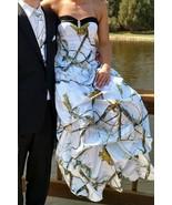 2017 Satin White Camo Wedding Dress Ball Gown Camouflage Appliques Brida... - $139.00
