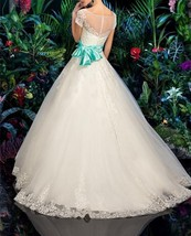 Elegant White Appliques Wedding Dress Short Sleeve Ball Gown Bridal Gown... - $99.42