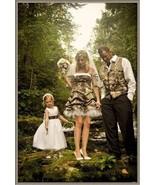 Short Camo Wedding Dresses A-Line Camouflage Appliques Party Prom Bridal... - $99.00