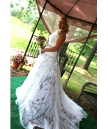 Luxury White Camo Tulle Wedding Dresses Ball Gown Camouflage Pearls Brid... - $179.00