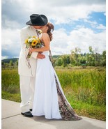 New White Camo A-Line Wedding Dresses Formal Camouflage Bridal Gowns Cus... - $159.00