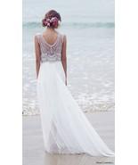 2016 Summer Beach Chiffon Wedding Dresses A-Line Crystal Bohemian Bridal... - $189.00