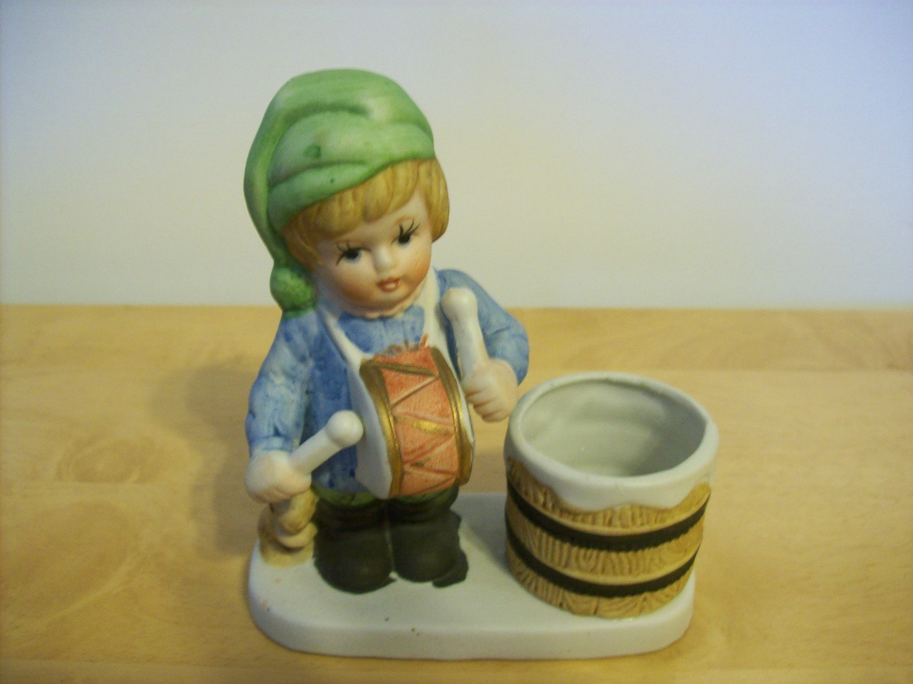 Vintage Boy with votive candle holder