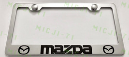 Mazda Stainless Steel License Plate Frame Rust Free W/ Bolt Caps - $13.50