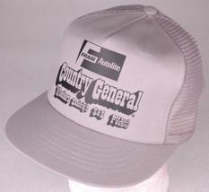 Vtg FRAM AUTOLITE Hat-COUNTRY GENERAL-WHEELERS-SANDVIG'S-S&S-PV-Gray-Mes... - $28.04